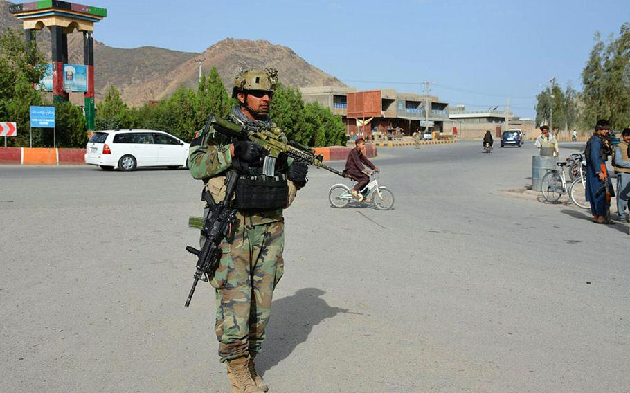Government forces in Farah repulsed a Taliban attack Tuesday, May 15, 2018, after reinforcement by the Afghanistan National Army's 207th Corps, with the assistance of American and multinational advisers, according to U.S. coalition spokesmen.