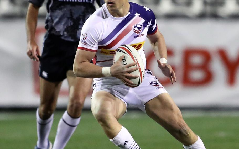Army Spc. Cody Melphy, 25, an engineer from Littleton, Colo., played his first match with  the U.S. national rugby team in March 2018.