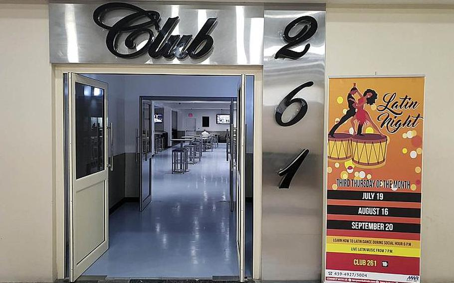 Club 261, the nightclub located at Naval Support Activity Bahrain. Personnel under 21 stationed in Bahrain will no longer be permitted to drink alcohol at the club beginning Sept. 1, 2018. The military barred drinking for personnel under 21 off base on July 26, 2018.
