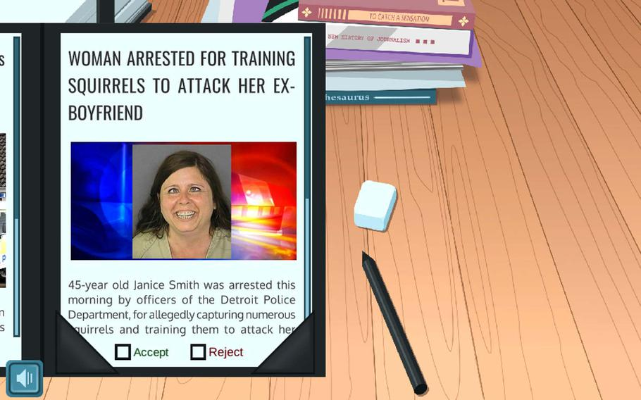 The game is called The News Hero and is hosted on Facebook. It allows players to assume the role of a news publisher and learn to identify fake news.