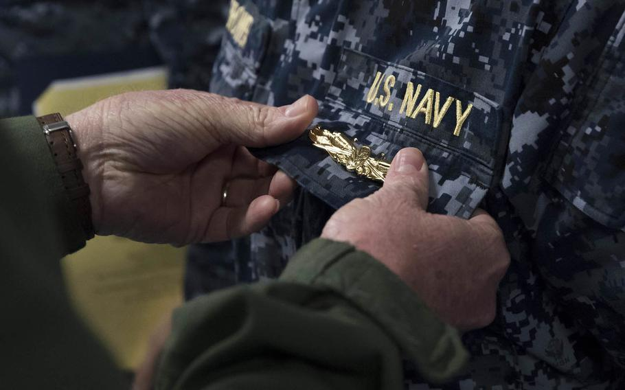 Sailors pursuing surface warfare officer certification now must be commissioned line officers qualified to command warfighting units or be making a lateral transfer into the field, the Navy said.