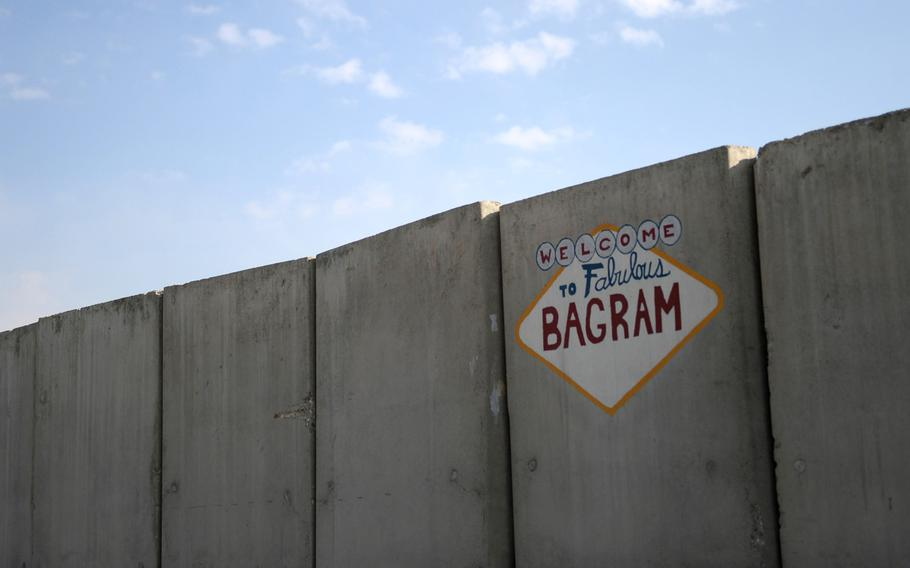 Street art at Bagram Air Field, Afghanistan on Nov. 30, 2016. A group of Georgian soldiers is suspected of stealing thousands of dollars worth of merchandise from an exchange store recently at Bagram, according to preliminary investigation results, military officials said.