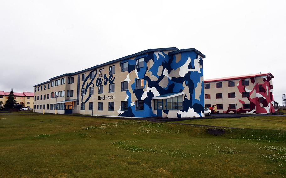 The outside of the Base Hotel and Hostel, which used to function as U.S. Navy barracks, in Keflavik, Iceland, Tuesday, August 15, 2018.