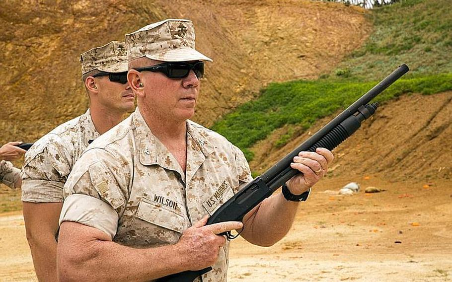 Marine Col. Daniel Wilson was convicted of the sexual abuse of a child, six counts of conduct unbecoming of an officer and a gentleman and absence without leave last year. He was sentenced to 5 and a half years in prison and dismissed from service.