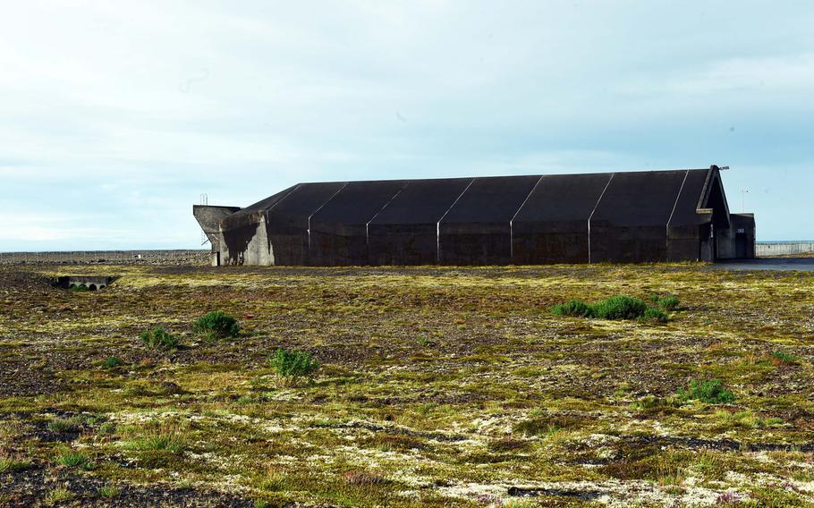 One of the hangars the U.S. Air Force used during the Iceland Air Surveillance mission, in Keflavik, Iceland, Wednesday, Aug. 15, 2018.