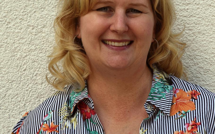 Sandra Whitaker, principal of Wiesbaden High School, Germany.