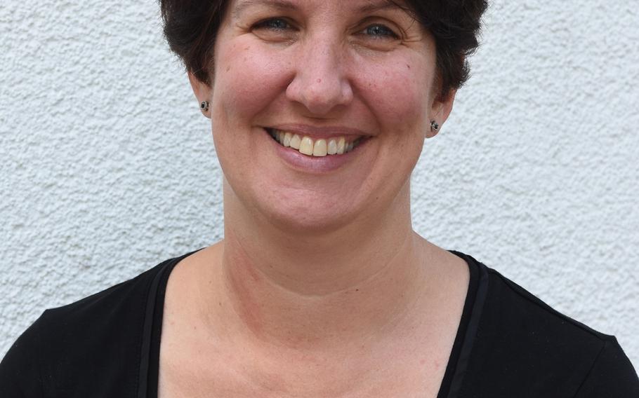Jackie Ferguson, principal of Wiesbaden Middle School, Germany.