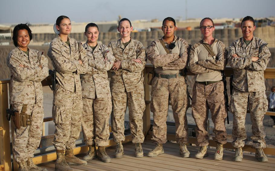 ''I'm proud to be a part of the legacy and honored to hold the title 'Marine,''' said 1st Lt. Katie Kochert, a Marine with Task Force Southwest.