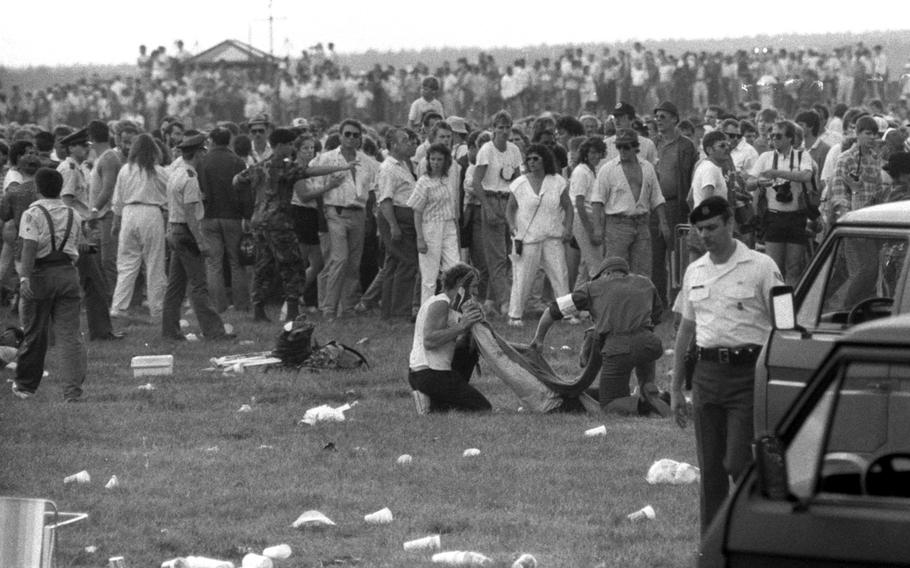 Nearly 300,000 spectators witnessed a horrifying airplane crash that killed 70 people and injured 450 on Aug. 28, 1988, at the Ramstein air show.