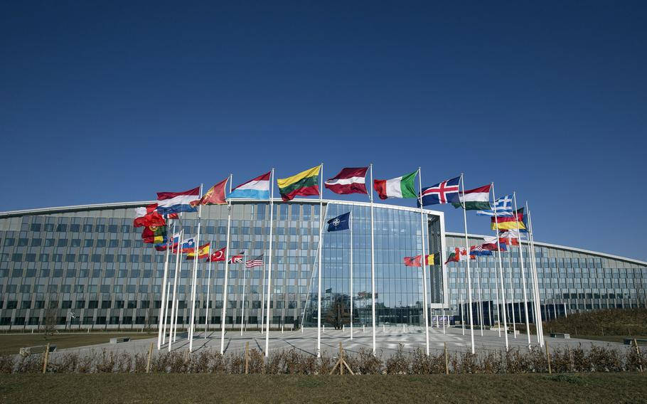 NATO said it is considering a proposal to rename the alliance's new Brussels headquarters after the late Sen. John McCain.