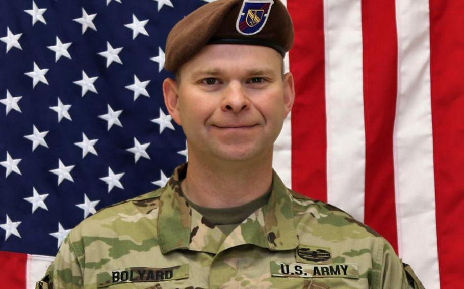 Command Sgt. Maj. Timothy A. Bolyard was identified as the soldier killed in an insider attack in eastern Afghanistan on Monday, Sept. 3, 2018.