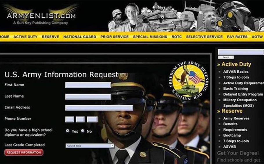 Army.com was shut down and fined by the Federal Trade Commission for illegally gathering information from potential military enlistees.