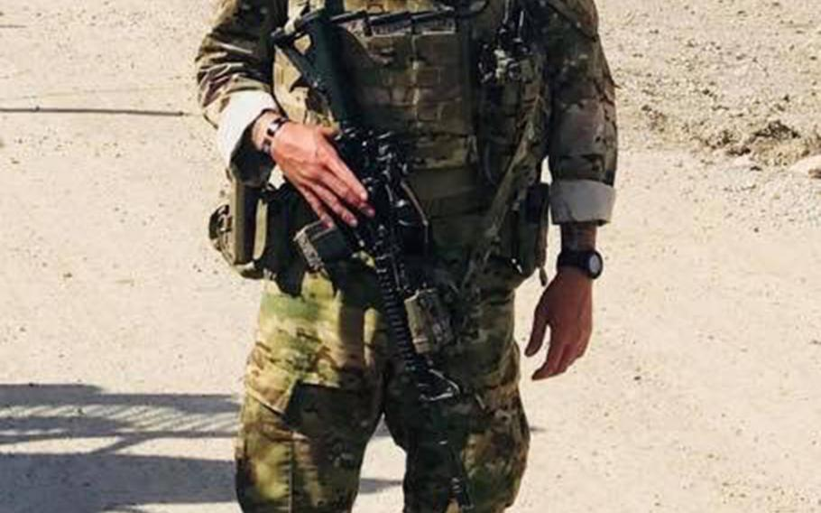 Pictured here in an undated photo from an undisclosed location in Afghanistan is Staff Sgt. Bryan McQueen, a seven-year Army veteran who was wounded in an insider attack in Afghanistan's Logar province on Monday, Sept. 3, 2018.