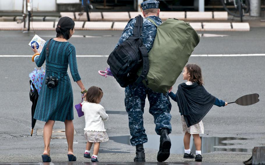 A sailor's family members can now move ahead or stay behind up to six months during a change of duty station in certain circumstances and locations, the Navy announced Thursday.
