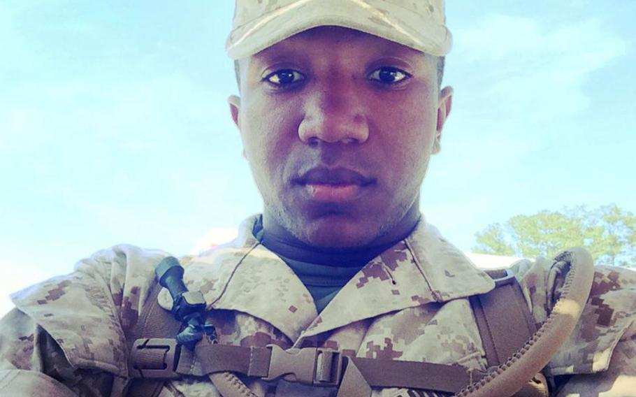Marine Private 1st Class Timothy Irvin, 23, of Hattiesburg, Miss., has been charged in the suffocation death of his wife, Necii Irvin, while stationed on Okinawa in 2015.