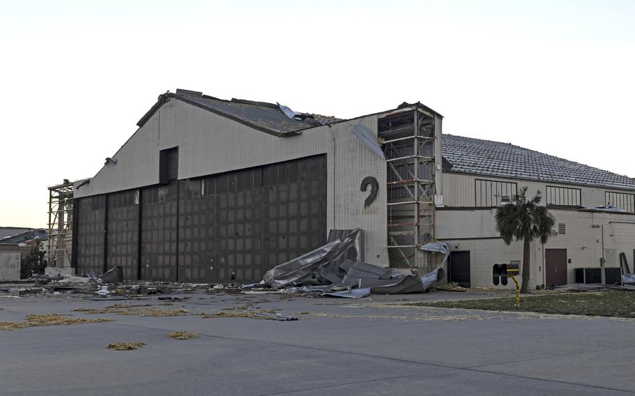 Hurricane Michael made landfall as a catastrophic Category 4 storm close to Tyndall Air Force Base, Fla., on Oct. 10, 2018. The storm created significant structural damage to the majority of the base and surrounding areas.