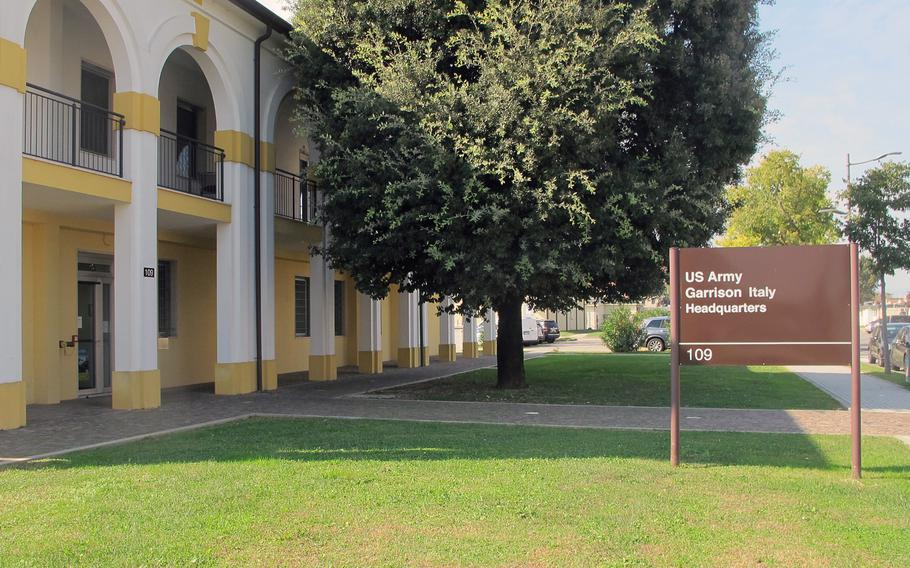 A soldier from U.S. Army Garrison Italy was diagnosed Monday with bacterial meningitis.
