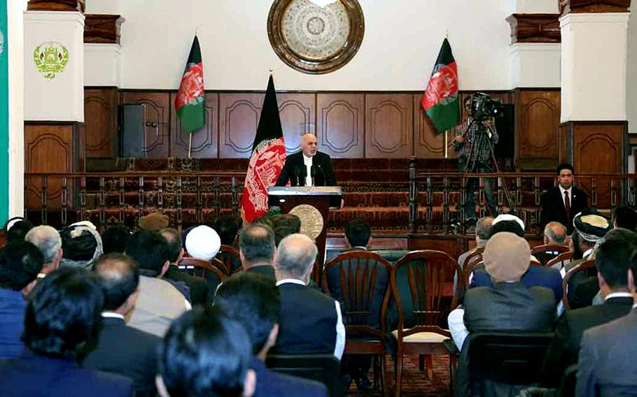 Afghan President Ashraf Ghani signs a decree in 2016 establishing an independent Anti-Corruption Justice Center in Kabul, responsible for tackling high-level corruption in Afghanistan.