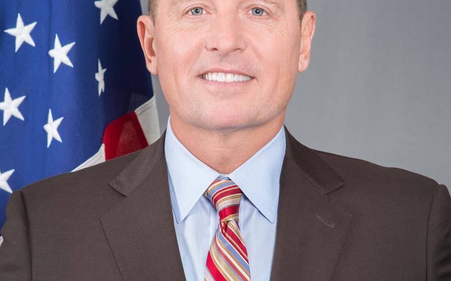 U.S. Ambassador to Germany Richard Grenell, who says he invites Marines based at the Berlin embassy to mingle with industry leaders at official events.