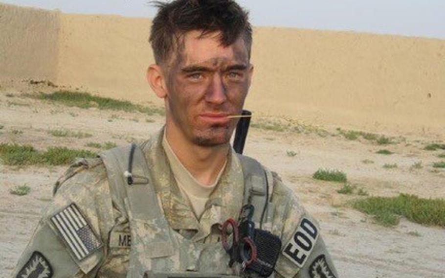 U.S. Army Staff Sgt. Aarron Merritt during a deployment in Afganistan. Merritt did one tour in Iraq, and tours in Afghanistan. He later died in 2014 while being treated for Colitis at a VA hospital. The VA recently agreed to a 2.5 million settlement with his parents in connection with his death.