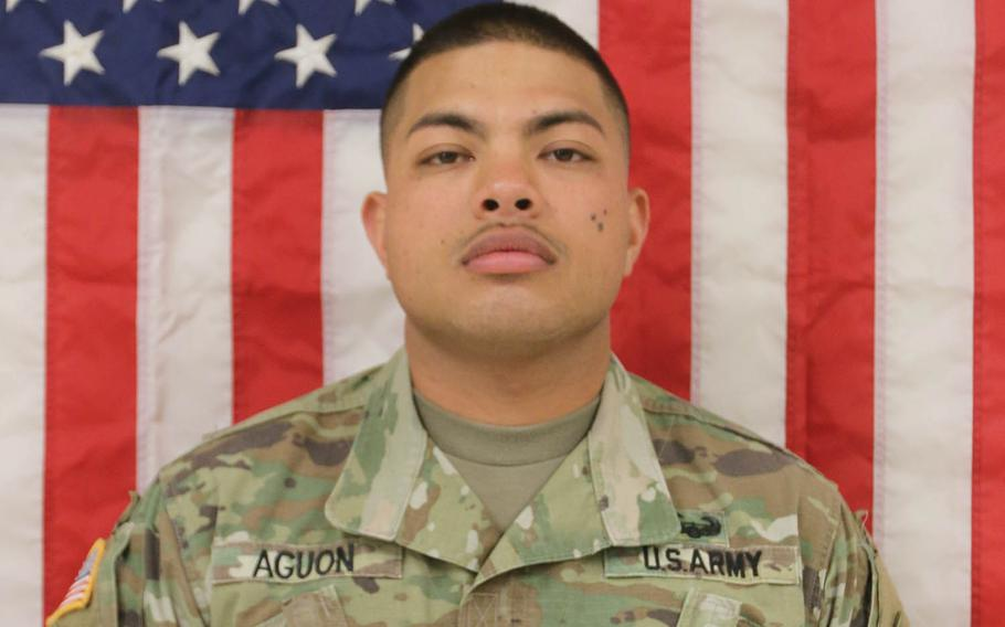 Sgt. Marcos John Aguon, 28, was a cannon crew member with the Fort Bliss, Texas-based 3rd Armored Brigade Combat Team, which rotated to South Korea in October.