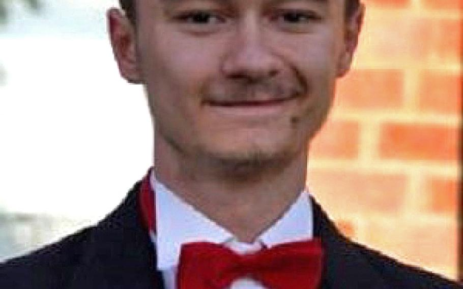 Matthew Strasbaugh, 18, the son of a airman who went missing and was found dead by British police at RAF Lakenheath, England, on Saturday, Nov. 17, 2018.