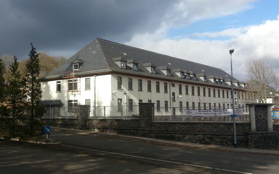 The former U.S. Army Strasburg Kaserne in Idar-Oberstein, Germany. According to the German newspaper Rhein-Zeitung, the Army has looked at six buildings on the base as part of a survey to find buildings appropriate for housing options.   Courtesy Nuckmann/Wikimedia Commons
