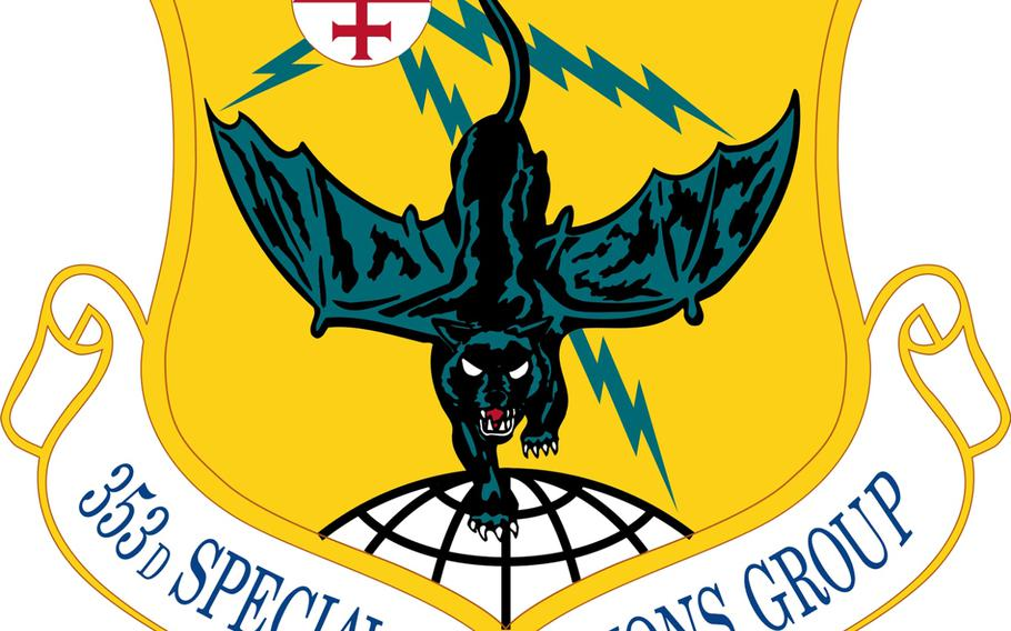The official emblem of the 353rd Special Operations Group from Kadena Air Base, Okinawa.