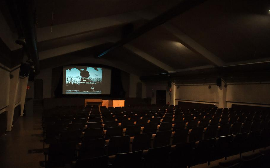 """The movie base theater of the former U.S. Air Force base in Landsberg, Germany, where Johnny Cash saw the film, """"Inside Folsom Prison,"""" which inspired his hit song, """"Folsom Prison Blues."""""""