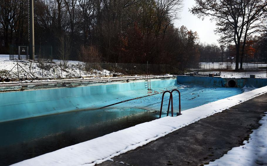 The movie base pool of the former U.S. Air Force base in Landsberg, Germany, which Johnny Cash frequented during his time in the Air Force.