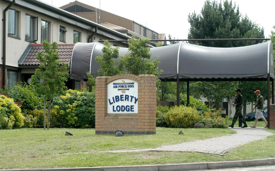 RAF Lakenheath's Liberty Lodge. Defense Department lodging rates are expected to rise as the services prepare to convert funding for all lodging costs to nonappropriated coffers.