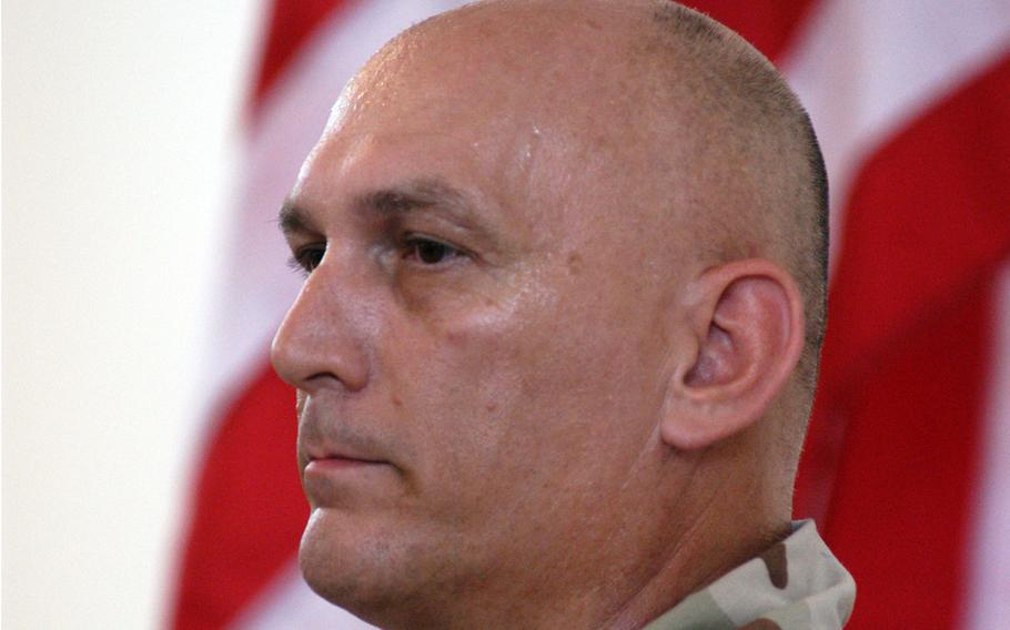 Then-Maj. Gen. Raymond Odierno, commanding the 4th Infantry Division, in Kirkuk, Iraq, in 2003.