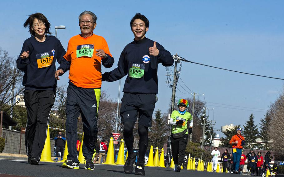 Nearly 12,000 runners of all ages participated in the 38th annual Yokota Striders Frostbite Road Race at Yokota Air Base, Japan, Sunday, Jan. 20, 2019.