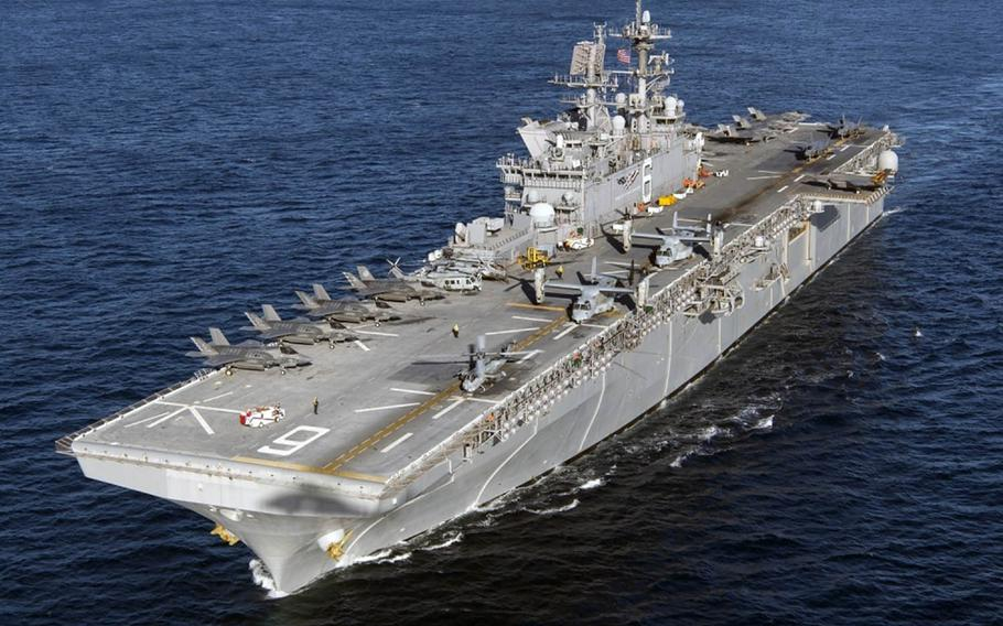 The USS America amphibious assault ship is capable of hosting a multitude of aircraft used by a Marine expeditionary unit.
