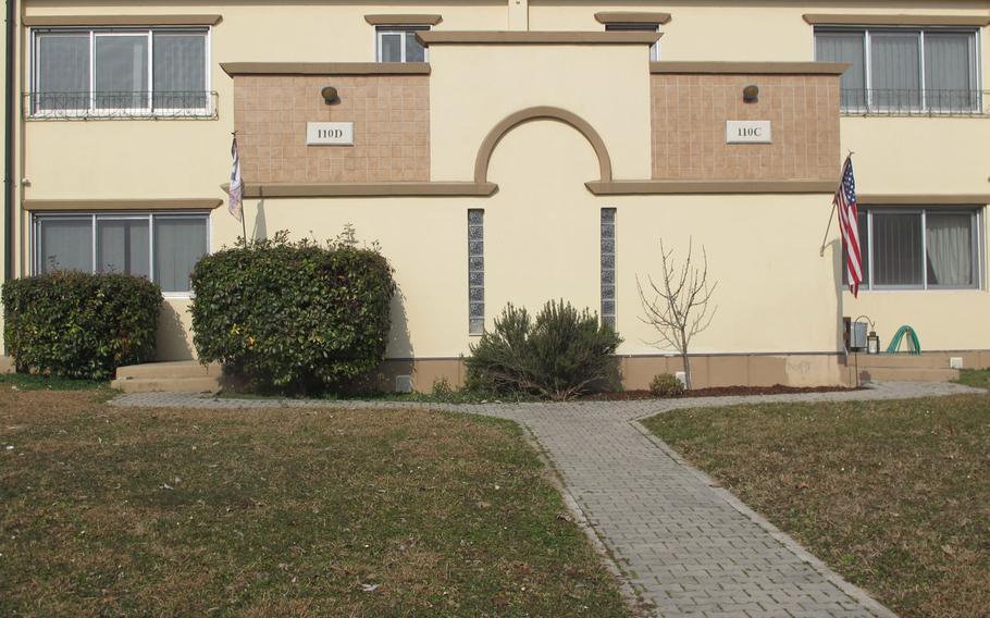 A duplex on Villagio, U.S. Army Garrison Italy's on-base housing.