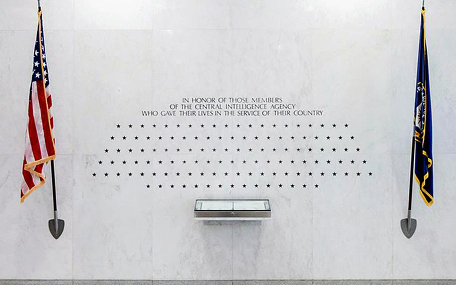 The Central Intelligence Agency's memorial wall at CIA headquarters in Langley, Va.  Each star memorializes a life lost in the line of duty. The parents of Johnny Micheal ''Mike'' Spann, the first American killed in Afghanistan after the 9/11 terrorist attacks is speaking out about the expected release in May of John Walker Lindh, dubbed the ''American Taliban'' after his battlefield capture, who they hold responsible for their son?s death.