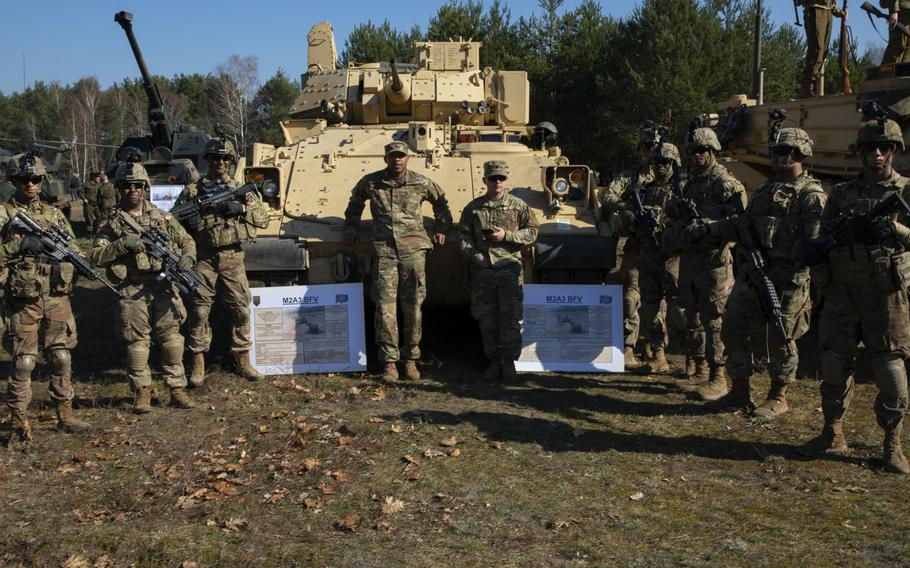 Soldiers from 1st Armored Brigade Combat Team, 1st Infantry Division and their Polish partners joined the Polish people to commemorate the 75th anniversary of the Great Escape from the Stalag Luft III POW camp  on March 23-24, 2019.
