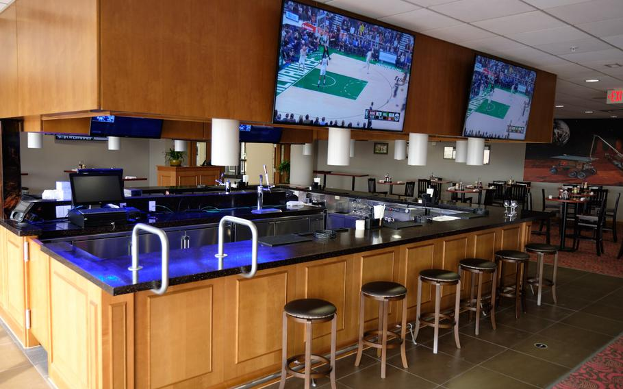 The new River Bend Golf Course at Camp Humphreys, South Korea, features a full-service restaurant and bar called the River Bend Pub.