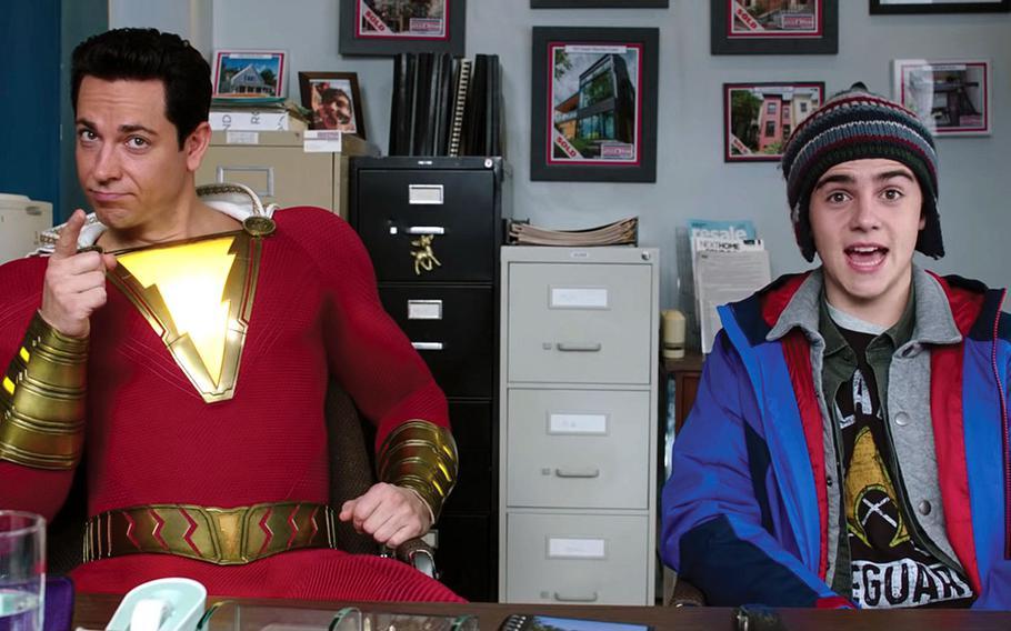 "Zachary Levi and Jack Dylan Grazer in ""Shazam!""   DC Comics/Warner Bros."
