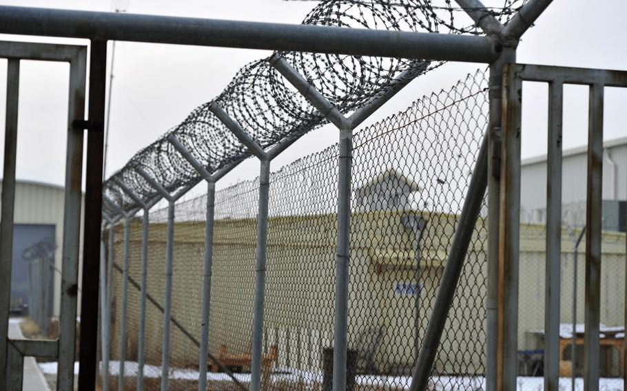 The United Nations in a report released Wednesday, April 17, 2019, expressed concern over conditions for detainees at the Afghan National Detention Facility in Parwan province. The facility, pictured here in 2017, is managed by the Afghan Defense Ministry.