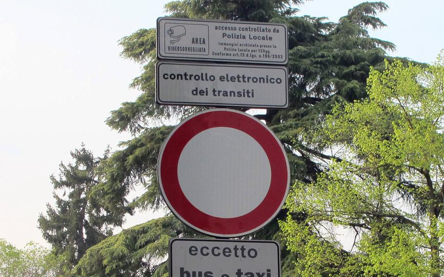 Traffic cameras are ubiquitous in Vicenza and contribute to the majority of tickets for speeding, rolling through stop signs and entering restricted areas. The tickets can take months or years to arrive and the fines can be steep.