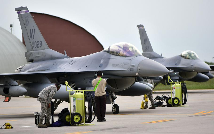 F-16s assigned to the 510th Fighter Squadron, 31st Fighter Wing, Aviano Air Base, Italy, arrived at Aviano's airfield, on Tuesday, April 30, 2019. The returning airmen were deployed to Afghanistan in support of Operation Freedom's Sentinel and NATO's Resolute Support mission, for about six months.