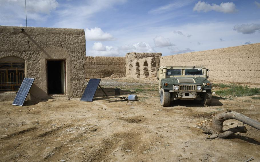 An Afghan army outpost watches over a highway in Helmand province, the deadliest province in the country for Talban attacks in 2018.