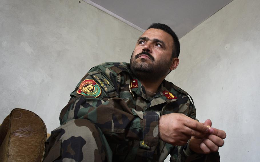 Maj. Hedayat Rasoly, commander of the 3rd Kandak of the 215th Corps in Helmand province, said a Taliban infiltrator came to his unit and served for almost a month before killing three of his soldiers. ''We were his brothers!'' Rasoly said.