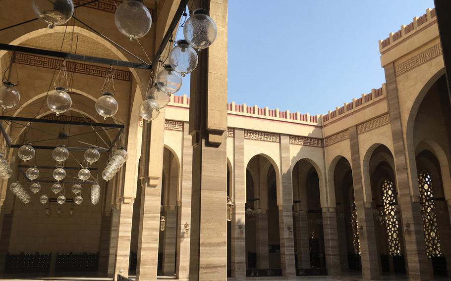 The Al-Fateh Mosque, the largest in Bahrain, can host more than 7,000 worshipers at a time.