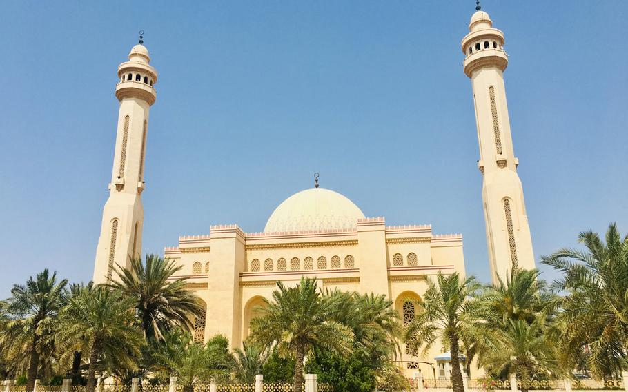 The Al-Fateh Mosque, the largest in Bahrain, can host more than 7,000 worshipers at a time.  Ramadan, the Muslim holy month, is set to begin May 6 and requires all expats in Bahrain to observe fasting laws during daylight hours.