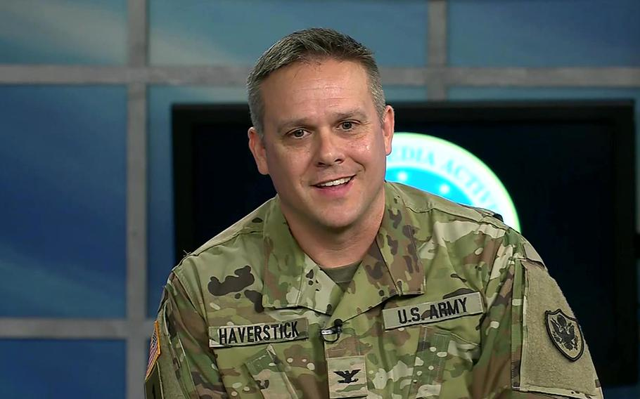 Army Col. Paul Haverstick, acting director of the Defense Media Activity at Fort Meade, Md.