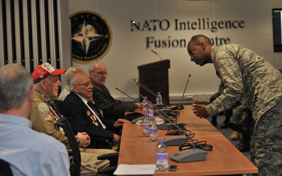 An event is held at RAF Molesworth in the U.K. for World War II veterans on May 27, 2014. A U.S. intelligence gathering hub, which includes the NATO Intelligence Fusion Center and the Joint Intelligence Analysis Complex, could stay at Molesworth as the Pentagon reconsiders a plan to move the center to a different site.