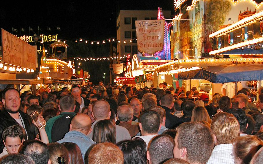 The Duerkheimer Wurstmarkt in Bad Duerkheim, Germany, can get a little crowded, so be ready for some bumping and grinding on weekend nights when the centuries-old wine festival is on. U.S. military officials are reminding Americans to be safe if attending the Wurstmarkt, where both U.S. and German law enforcement personnel will be present.