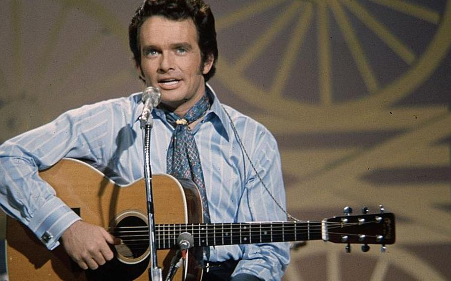 """Merle Haggard appears on """"The Johnny Cash Show"""" in 1970. Haggard's """"Okie from Muskogee"""" inadvertently became the rallying cry for those who supported the Vietnam War."""